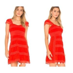 NWT Sexy Red Hot Off the Shoulder Lace Mini Dress